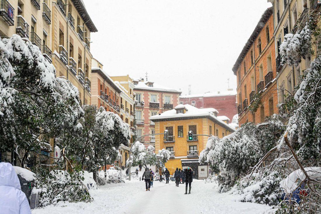 Filomena: La gran nevada que tiñó de blanco a Madrid