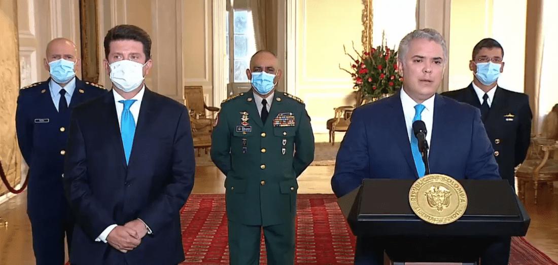 El presidente Iván Duque designa a Diego Molano como nuevo ministro de Defensa