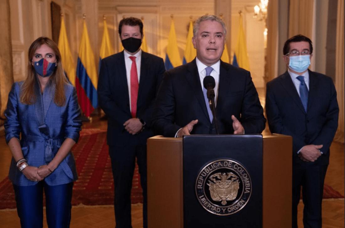 El presidente Duque anunció que hoy llegarán a Colombia las primeras 50.000 vacunas de Pfizer