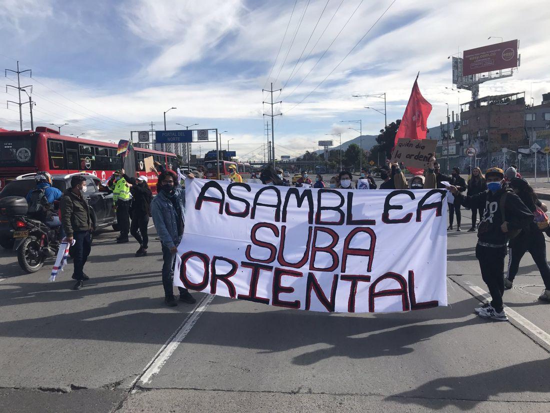Así se desarrollan las manifestaciones del paro nacional en Bogotá