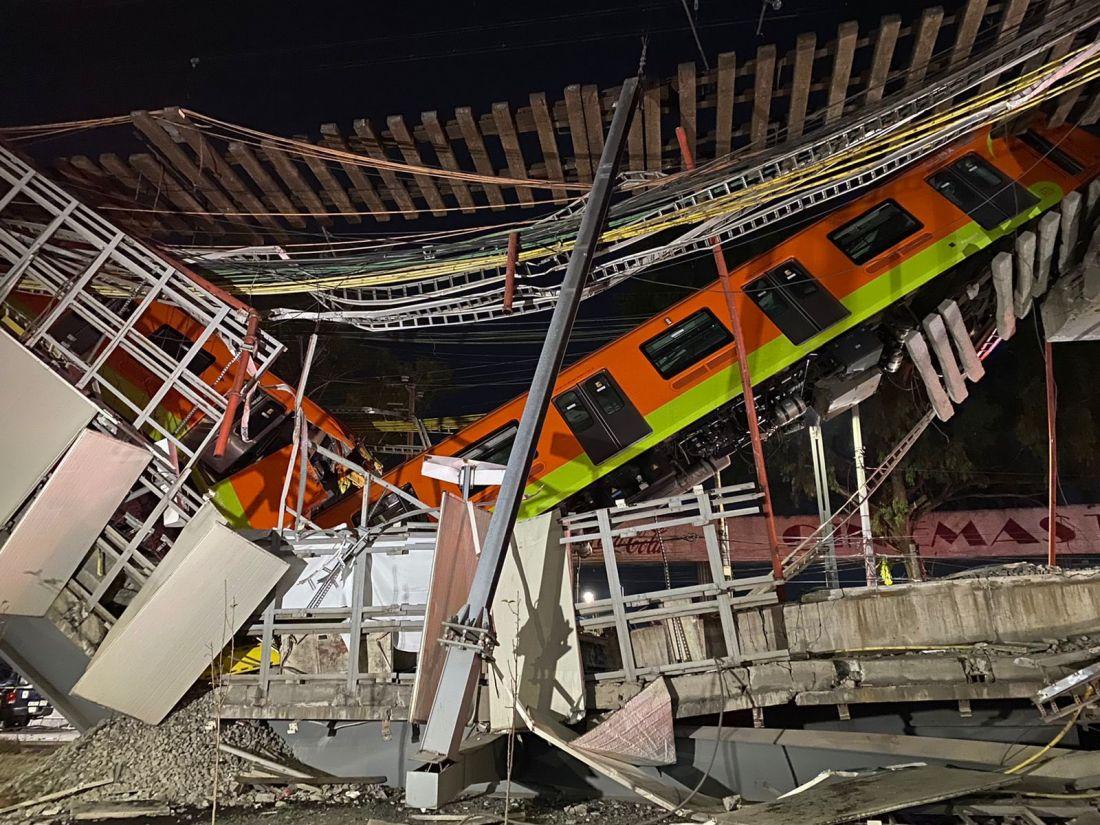 Tragedia en México: al menos 23 muertos y 70 heridos al hundirse una vía elevada metro