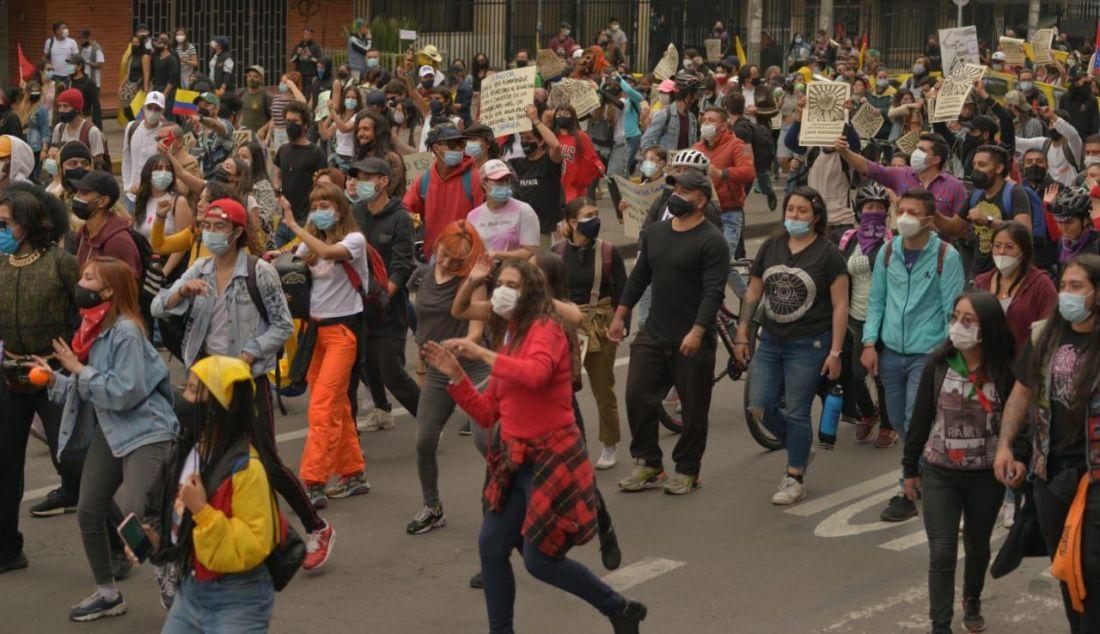 """Se espera una jornada de marchas y plantones en """"toma de Bogotá"""""""