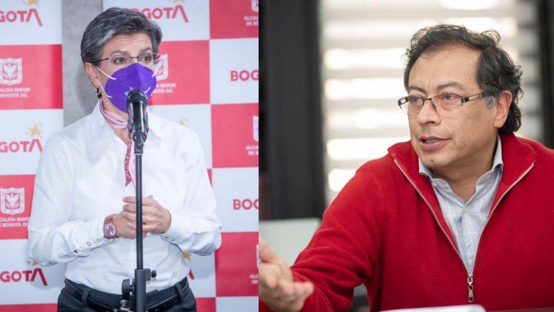 Claudia López vs Gustavo Petro: otra pelea política que se calienta