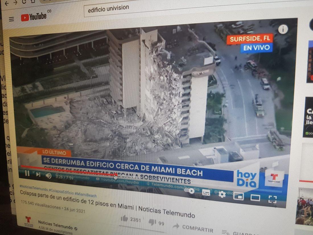 Tragedia del edificio en Miami: al menos 4 muertos y más de 150 desaparecidos