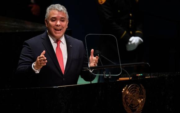 Estos fueron los puntos que habló Iván Duque en la Asamblea General de las Naciones Unidas