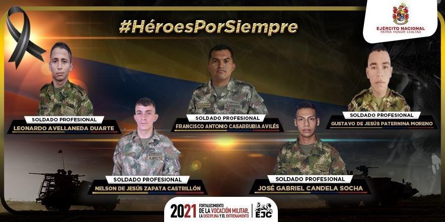 Atentado en Córdoba deja cinco soldados muertos